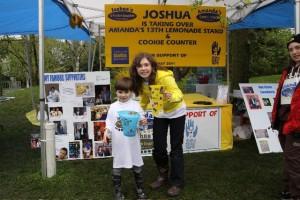 Joshua taking over Lemonade Stand